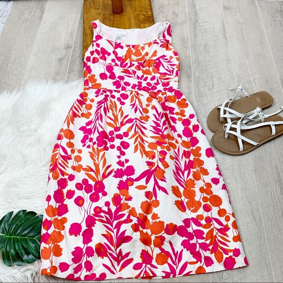 Donna Morgan Dresses & Skirts - Donna Morgan Floral Orange and pink dress D1978